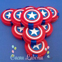 Lembrancinhas para festa infantil dos Vingadores Avenger Party, Captain America Party, Trunk Or Treat, Ideas Para Fiestas, Superhero Party, Lego Marvel, Baby Party, Party Planning, Decoration