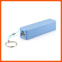 GEARONIC TM 2600mAh Universal Power Bank Backup External Battery Pack Portable USB Charger blue - Little daily helpers (*Amazon Partner-Link)
