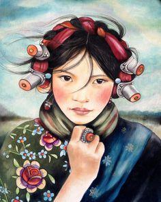 Mujer de Tíbet                                                                                                                                                                                 Más