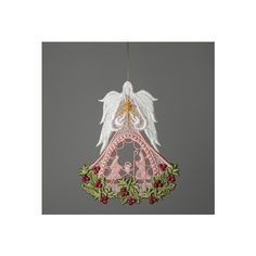 Holy Family Christmas Angel with Swarovski crystal in the middle of... (€6,12) ❤ liked on Polyvore featuring tops and etsy