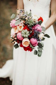 Boho-Vintage Vineyard Wedding Bridal Bouquet
