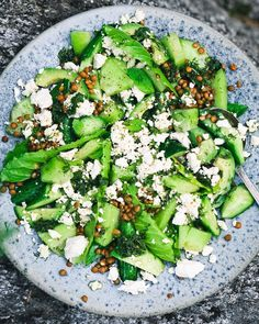 """David Frenkiel on Instagram: """"This green summer salad recipe is up on my stories and it involves everything you (I) want to eat this season: Cucumber, sweet and splashy…"""" Summer Salad Recipes, Summer Salads, I Want To Eat, Savoury Dishes, Palak Paneer, Avocado Toast, Cobb Salad, Cucumber, Cooking"""