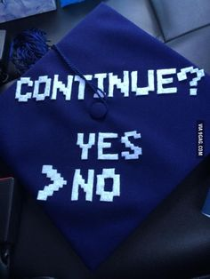 After 7 long grueling years in college, I finally made it. I decorated my grad cap with pride.