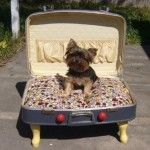 DIY Pet Bed Using A Suitcase