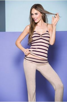 Pijama Pantalón largo Tops, Women, Fashion, Babydoll Sheep, Athletic Wear, Underwear, Pants, Sports, Moda