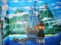 Peter Pan mural, much more detailed & daring than I am going to do, but still stunning