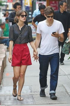 James Righton Photos: Keira Knightley and James Righton Stroll Around Soho.