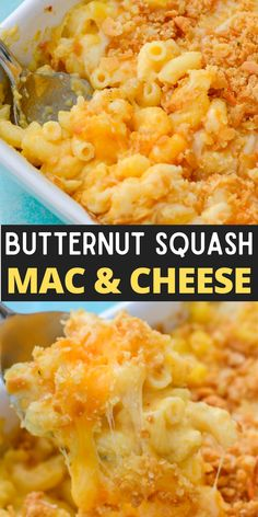 This Butternut Squash Mac and Cheese is ultra creamy and lightened up with the addition of butternut squash! This is a family friendly side dish everyone will love! Yummy Pasta Recipes, Savoury Recipes, Delicious Dinner Recipes, Easy Chicken Recipes, Side Dish Recipes, Veggie Recipes, Lunch Recipes, Beef Recipes, Easy Recipes
