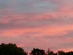Fade Pink Blue Sky