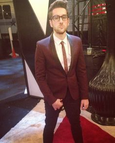 Will Champlin -- oxblood is his color! Tessanne Chin, Wardrobe Room, Season 8, Oxblood, Movies Showing, The Voice, Tv Shows, Suit Jacket, Entertainment