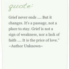 Grief is the price of love.