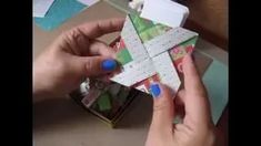 Tutorial ~ Pinwheel Fancy Fold Card Using 6x6 Paper pads - YouTube