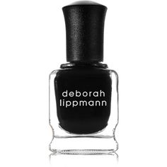 Deborah Lippmann Nail Polish - Fade To Black (68 PLN) ❤ liked on Polyvore featuring beauty products, nail care, nail polish, nails, beauty, black, makeup, textured nail polish, deborah lippmann et deborah lippmann nail lacquer