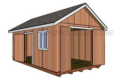 free woodworking plans Free Shed Plans - This step by step woodworking project is about free garden shed plans. I have designed this large shed w 12x20 Shed Plans, Diy Shed Plans, Storage Shed Plans, Storage Ideas, Garage Plans, Free Shed Plans 10x12, Wood Shed Plans, Barn Garage, Barn Plans
