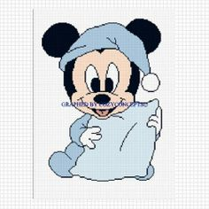 Mickey Mouse Afghan Patterns Free   BABY MICKEY CROCHET AFGHAN PATTERN GRAPH EMAILED .PDF