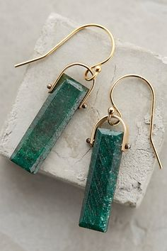 Emerald Lantern Drops #anthropologie