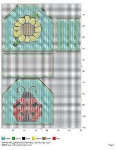 Ladybug and sunflower napkin holders -- plastic canvas