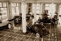 The former show room of the Auburn Motor Car Company in Auburn, Indiana. It's now the Auburn Cord Duesenberg Museum.