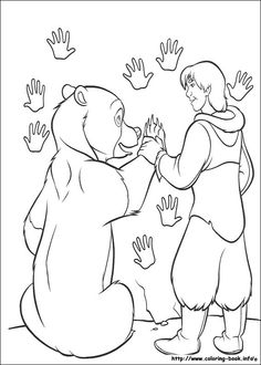Brother Bear coloring picture