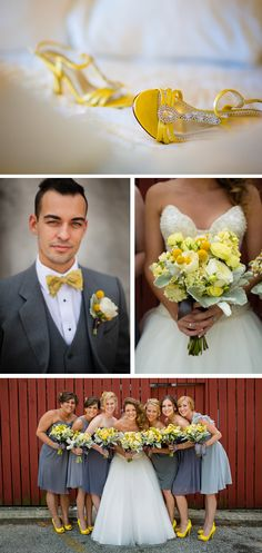 Lively, Whimsical Yellow and Gray Wedding in Indiana | WeddingWire: The Blog