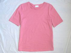 TSE MUST HAVE!! SPRING~SUMMER ESSENTIAL BASIC COTTON ROSE PINK TEE T-SHIRT TOP S