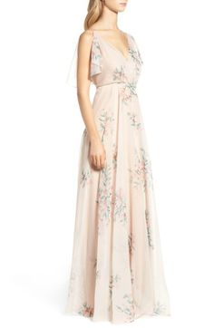 JY Jenny Yoo Chiffon A-Line Gown available at Bridesmaid Dresses Online, Bride Dresses, Wedding Dresses, Full Circle Skirts, A Line Gown, Chiffon Gown, Floral Chiffon, Wedding Suits, Nordstrom Dresses
