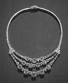 Princess Grace's  Cartier platinum and diamond necklace, a gift from Prince Rainier.