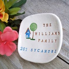 Personalized Housewarming Gift - Personalized Home Sweet Home Ceramic Gift Dish, First Home Gift w/ House Address, Hostess Gift Personalized Housewarming Gifts, Hostess Gifts, First Home Gifts, House Address, Realtor Gifts, New Homeowner, Gift Baskets, House Warming, Wedding Gifts