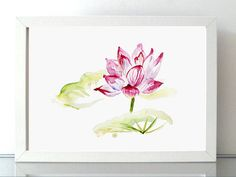 ➽➽ BUY 2 Get 1 FREE Order 2 separate prints (not a set of 2) of the same size (up to 13 x 19) and add a note with the link of the 3rd print you would like to order.  ➽ SIGNED and numbered giclee art print of my lotus watercolor  SIZE OF PAPER: Please choose when you order  ➽ ABOUT THE FINE ART PRINTS (A4 and smaller sizes)  HIGH RESOLUTION PRINT This is a high quality, high resolution giclee reproduction of my original watercolor painting. This way of printing ensures that the final print…