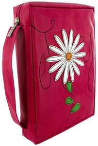 Pink Faux Leather Joy with Applique Flower Bible Cover Bible Bag, How To Make Leather, Bible Covers, Religious Gifts, Online Gifts, Inspirational Gifts, Make And Sell, Hand Sewing, Purple