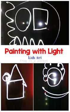 Frog in a pocket: Painting with light {Light & Reflections Series} Science For Kids, Art For Kids, Kids Fun, Rainy Day Activities, Preschool Activities, Projects For Kids, Crafts For Kids, Peace Education, Preschool Arts And Crafts