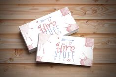 Hire Stuff logo and business card design by SammyJackles