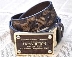 Louis Vuitton damier belt.