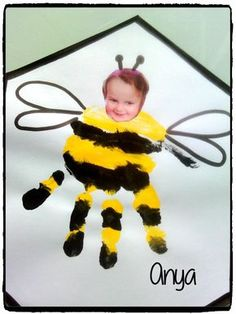 Bzzzz Bzzzz, mes petites abeilles – Bzzzz Bzzzz, my little bees # Bees # Spring Kids Crafts, Daycare Crafts, Summer Crafts, Toddler Crafts, Toddler Activities, Holiday Crafts, Toddler Art, Bee Theme, Mothers Day Crafts
