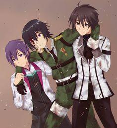 Crossover | Gakuse Toshi Asterisk,Taimadou Gakuen 35 Shiken Shoutai & Rakudai Kishi no Cavalry - Ayato,Takeru & Ikki.jpg (876×960)