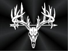 Deer Rack w-Arrow Decal Buck Rack Decal Buck by TruLineDecals