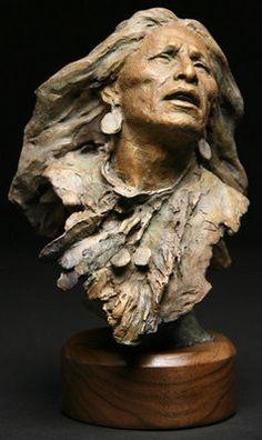 "John Coleman, Cowboy Artist of America - Ghost Dancer Bronze Edition of 50 9 "" x 6 "" x 6 "" Ghost Dancer"