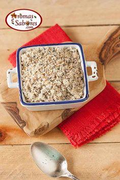 Farofa de alho com sementes