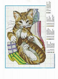 lots of adorable cat cross stitch patterns at link......
