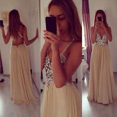 Simple Prom Dresses, backless prom dresses champagne prom dress backless prom gown open back prom dresses open backs evening gowns straps formal gown for teens girls LBridal Open Back Prom Dresses, Prom Dresses 2015, Backless Prom Dresses, A Line Prom Dresses, Grad Dresses, Dresses For Sale, Formal Dresses, Dress Prom, Prom Gowns