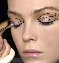 Eyeshadow. Paint by numbers