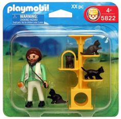 Amazon.com: Playmobil 5822 Animal Clinic Cat Scratch Tree with Vet: Toys & Games