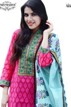 Buy Online Vastrangana Pink Color Maheshwari Printed Pakistani Style Salwar Suit at Best Price in India - Pink Printed Salwar Suit for Clothing