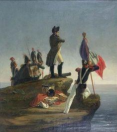 Horace Vernet - Napoléon Ier avec des gardes sur une côte rocheuse escarpée