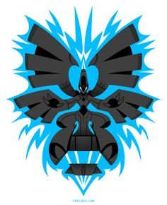 """e555b150 """"A mighty creature that spawned from war and has mastery over lightning""""  Pokemon T"""