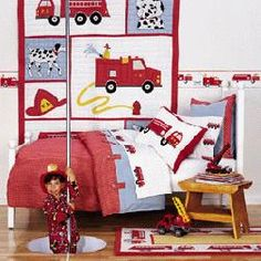 Firefighting Bed Set! For When Cooper Is In The Big Boy Bed! :)