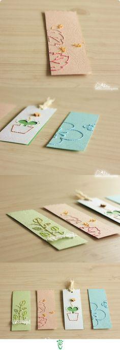 kreative Anhänger aus Papier mit Garn