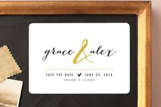 All that Sparkles Save the Date Magnets by robin ott design at minted.com