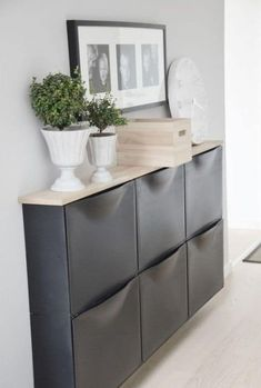 Smart and Gorgeous IKEA Hacks: save time and money with functional designs and beautiful transformations. Great ideas for every room such as IKEA hack bed, desk, dressers, kitchen islands, and more! - A Piece of Rainbow Ikea Hallway, Ikea Entryway, Apartment Entryway, Hallway Ideas, Entryway Ideas, Apartment Ideas, Corridor Ideas, Ikea Wall, Apartment Furniture
