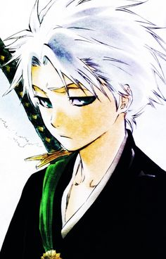 Toshiro Hitsugaya before he became captain. #bleach